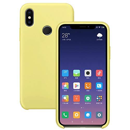 Pacyer Funda Compatible con Xiaomi Mi 8, Ultra Suave TPU Gel de Silicona Case Protectora Suave Flexible teléfono Absorción de Impacto Elegante Carcasa Compatible Xiaomi Mi 8 (Amarillo, mi 8)