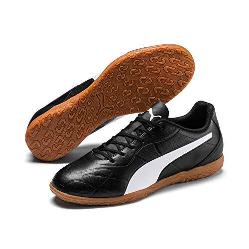 Puma Monarch IT, Scarpe da Calcetto Indoor Uomo, Black White, 9.5 EU