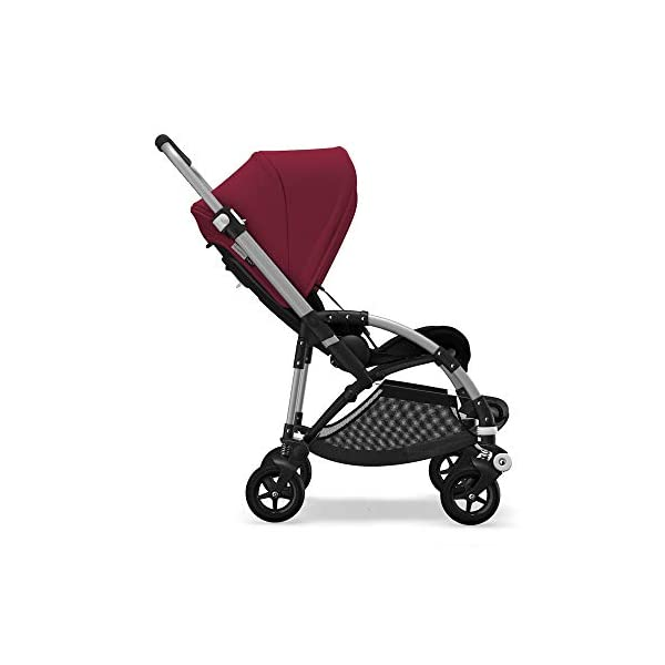 Bugaboo Bee 5, Foldable and Lightweight Pushchair, Converts Into Pram, Black/Ruby Red Bugaboo The perfect choice for city living Compact yet comfortable for parent and baby Light and easy one-piece fold for small spaces 1