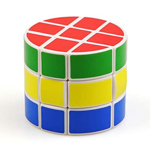 JIAAE 3X3 Zylinder Zauberwürfel Professioneller Wettbewerb Glatte Rubik Kinder Puzzle Spielzeug -