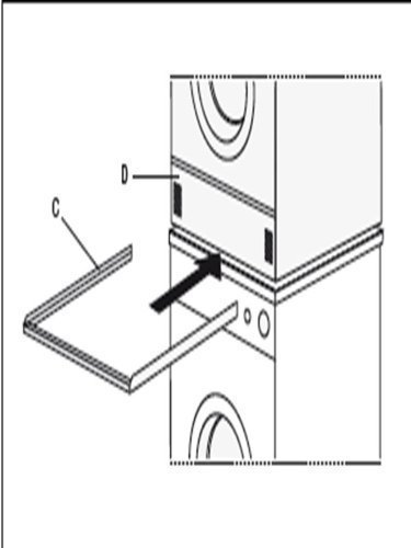 Zwischenbaurahmen für Waschmaschine / Trockner zu Wasch-Trockensäule ohne Auszug von Conny Clever® aus Alu beste Qualität keine Einzelteile zum Stecken Aluminium Turm