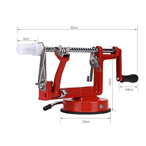 yimosecoxiang 3-in-1 Apfelschäler aus Edelstahl, Obstschälmaschine, Küchenwerkzeug, Lazy Easy Peeler, multi