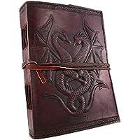Urbankrafted handgemachte viel Glück Drachen Leder Journal Größe - 5 x 7 Zoll