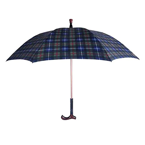 LL Krücken Regenschirm Gehstock Regenschirm im Freien Rutschfeste Sonnenschirm Windschutz Separat...