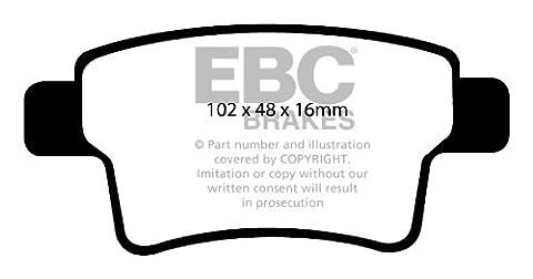 DP1961 CITROEN C4 Picasso 1.6 08> EBC ULTIMAX REAR BRAKE PADS