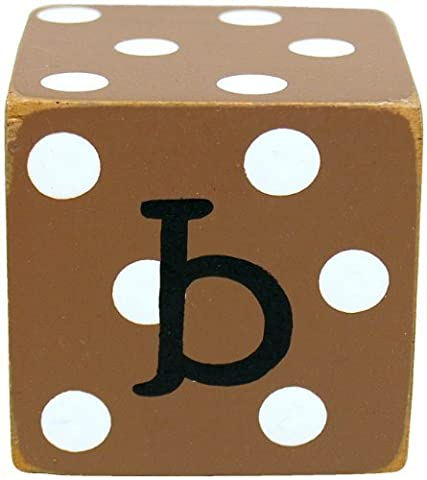 New Arrivals Letter Block B, Chocolate/White by New Arrivals