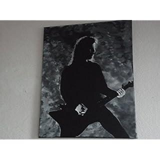 Metallica, James Hetfield, handbemalt, Gemälde, 20x 16Ins Gespannte Leinwand