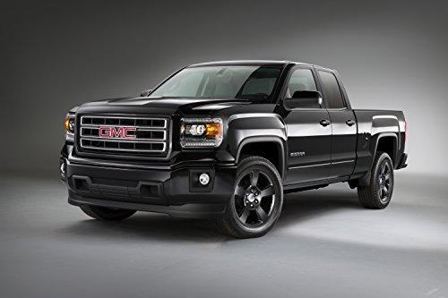 classique-et-muscle-car-ads-et-art-de-voiture-gmc-sierra-elevation-edition-2014-camion-art-poster-im