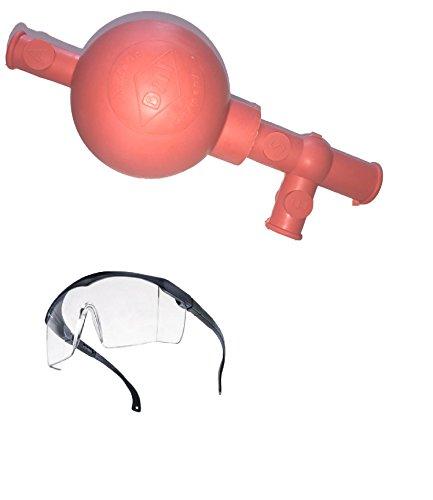 Schutzbrille (EN166) + Chemikalienlöffel/Spatel + Peleusball (für 10mm Pipetten) - Löffel-pipette