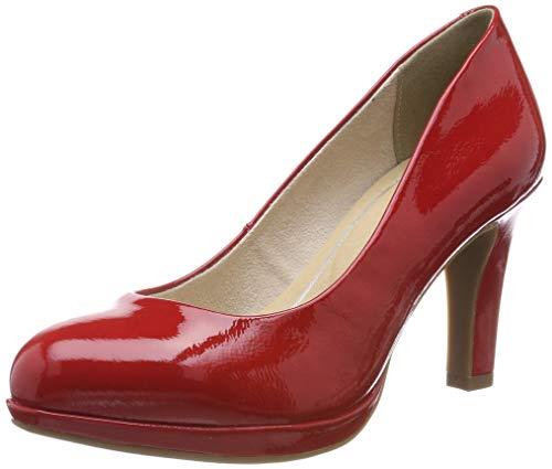 MARCO TOZZI 2-2-22421-22, Scarpe col Tacco con Plateau Donna, Rosso (Red Patent 524), 40 EU