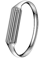 BZLine® Bracelet Bijou - Bande de remplacement pour Fitbit Flex 2 - Argent