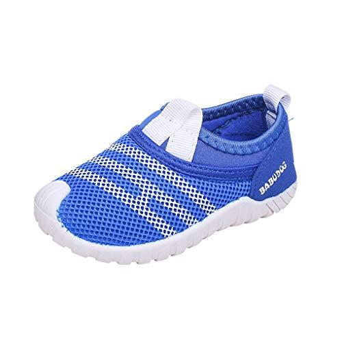 Dorical Unisex Babyschuhe Kinder Mesh Schuhe Kleinkind Schuhe,Jungen Mädchen Sommer Atmungsaktiv Lauflernschuhe Sportschuhe Freizeitschuhe Sneaker Krabbelschuhe mit Weiche Sohle(Blau-1,25 EU)