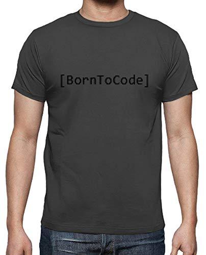 tostadora - T-Shirt Geboren Code - Manner Graphite XL -
