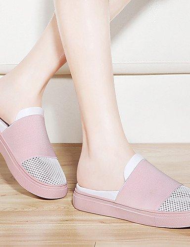 ZQ Scarpe Donna-Mocassini-Ufficio e lavoro / Formale / Casual-Comoda-Piatto-Sintetico-Rosa / Bianco , pink-us8.5 / eu39 / uk6.5 / cn40 , pink-us8.5 / eu39 / uk6.5 / cn40 pink-us8.5 / eu39 / uk6.5 / cn40