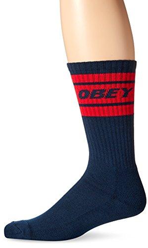 Obey Herren Socken Gr. Einheitsgröße, marineblau / rot Obey-socken