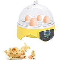 Poncherish Brutmaschine Vollautomatisch 7 Eier Brutautomat Inkubator mit Temperaturkontrolle und Automatische Eier Drehen für hühner Enten Gänse Geflügel Taube Wachtel