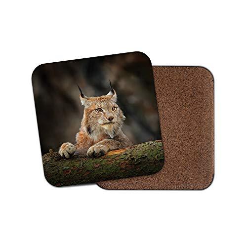 Awesome Lynx Untersetzer - Katze Rocky Mountains Rockies America Wild Cool Geschenk #12595 Rocky Lynx