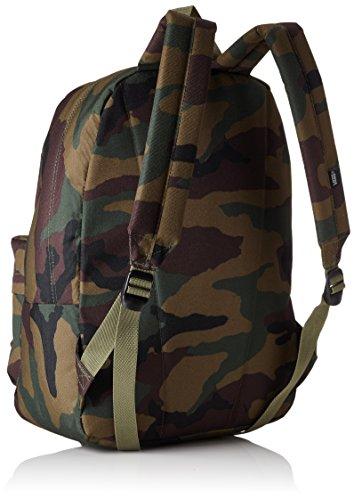 Vans Old Skool Ii Backpack Zaino Casual, 42 Cm, 22 Liters, Grigio (Heather Suiting) Multicolore (Classic Camo)