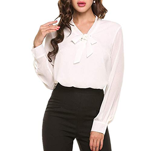 Frauen Kurzarm Tops Shirts V-Ausschnitt Bluse Button Up Tunika Casual Tops Womens Floral Bluse Lose Riemchen Cold Shoulder Tops Casual T Shirts Weiß S -