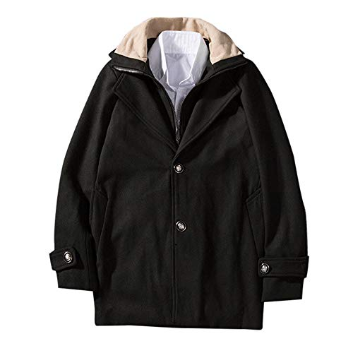 ODJOY-FAN-Uomo Autunno e Inverno Tinta Unita Completo Cappotto Giacca a  Vento Camicetta 3facdc9dff8