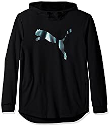 PUMA Mens Tech Fleece Hoody, Puma Black, Medium