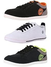 Globalite Men's Multi-color Combo of 3 Casual Sneaker GSC1236_338_337