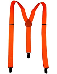 Hosenträger für Damen / Herren neon orange