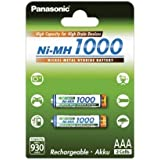 Panasonic Microakku HHR-55AAAB AAA 1000mAh 2er Pack, 2x 1,2V, NiMH