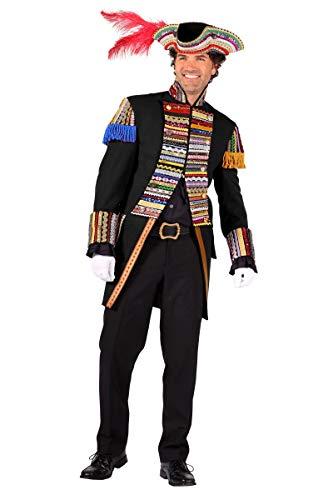 Garde Uniform Zirkus Page schwarz Karneval Gr.S ()