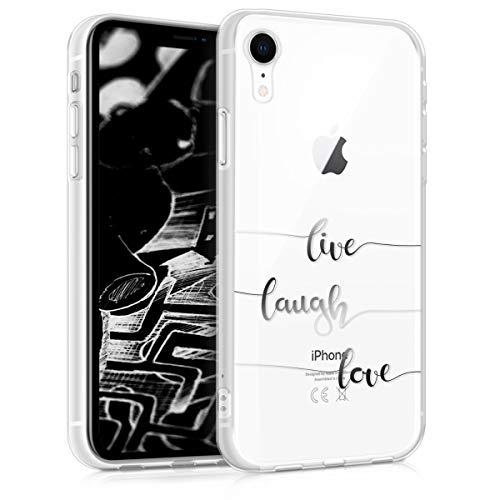 kwmobile Apple iPhone XR Hülle - Handyhülle für Apple iPhone XR - Handy Case in Silber Transparent