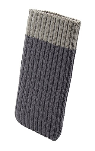 smartec24® iPhone X Handysocke Strick-Tasche in grau Original Rundumschutz Dank Dicker dicht gestrickter Wolle passt Sich Dank Strech perfekt dem jeweiligen Smartphone an