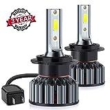 Lampadine H7 LED 10000LM, Fari Abbaglianti o Anabbaglianti per Auto, Kit Sostituzione per Alogena Lampade e Xenon Luci,Lampada 6000K Bianco,3 ANNI DI GARANZIA