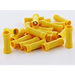 Stossverbinder isoliert gelb 100x Stoßverbinder 4-6 mm vollisoliert Crimpzange Quetschverbinder Kabelverbinder Crimp Zange Verbinder Kabelschuhe kfz 4-6 mm robElCo