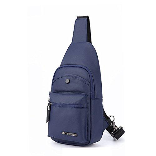 Arctic Hunter Sling Tasche Rucksack Crossbody Bag Brusttasche Umhängetasche Fahradfahren Blau 13001 (Hunter Rucksack)