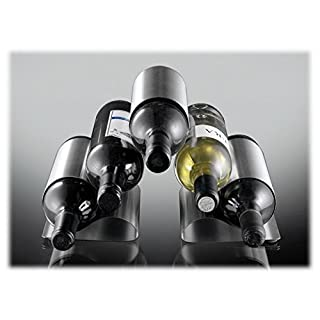 ASC 5 Bottle Curved Metal Wine Rack - New Contemporary Modern Design