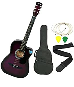 Jixing JXNG 6 Strings Acoustic Guitars With Combo (Purple)