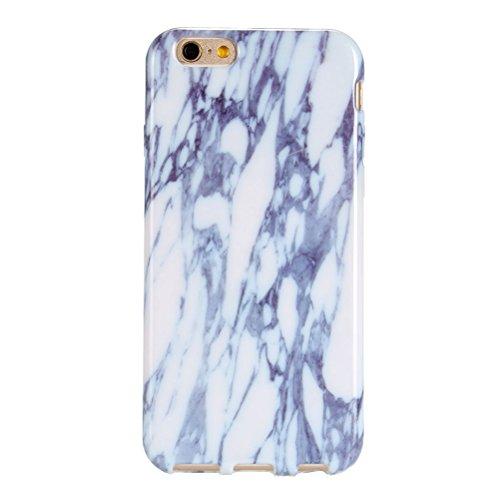 iPhone 6Marble Case, vioela Cool [Perfect Fit] Ultra Morbido Silicone TPU glaezende marmo pietra del reticolo di struttura flessibile in gomma Custodia Back Cover per Apple Iphone 66S 4.7inch with  bianco