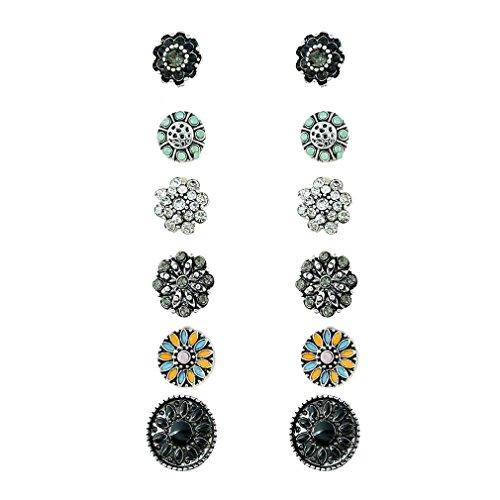 mjartoria-antique-silver-color-retro-rhinestone-flower-pattern-stud-earrings-set-of-6-flower-pattern