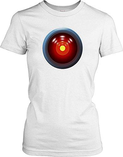 Hal 9000 - 2001 A Space Odyssey 1968 - Stanley Kubrick Ladies T Shirt - white - Ladies - 16