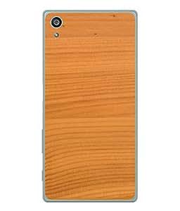 Fuson Designer Back Case Cover for Sony Xperia Z5 :: Sony Xperia Z5 Dual 23MP (Wood Lakadi Antique Fashion Beer Dark Grey )