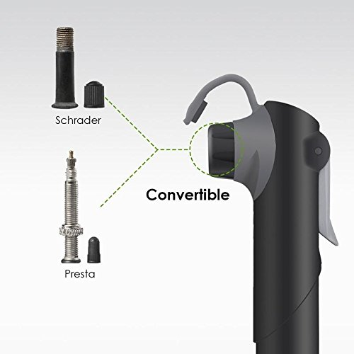 VeloChampion Alloy 9 Mini Bike Pump Silver/Black with Pressure Gauge and Mounting Bracket