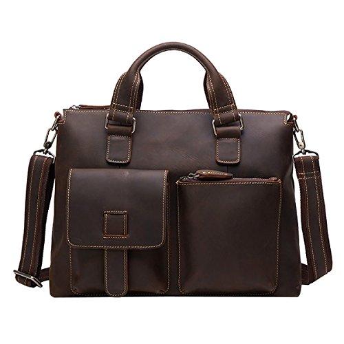 LAIDAYE Handtaschen-Retro- Geschäfts-Beutel Der Männer Großer Kapazitäts-Männer Beutel-Spielraum-Beutel-schmaler Querbeutel-Aktenkoffer 1