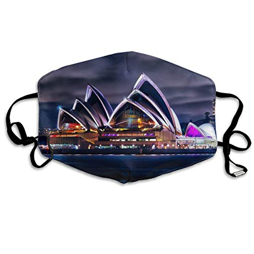Monicago Einzigartige Unisex-Mundmaske, Gesichtsmaske, Sydney Theatre Scenery Art Polyester Anti-dust Masks - Fashion Washed Reusable Face Mask for Outdoor Cycling
