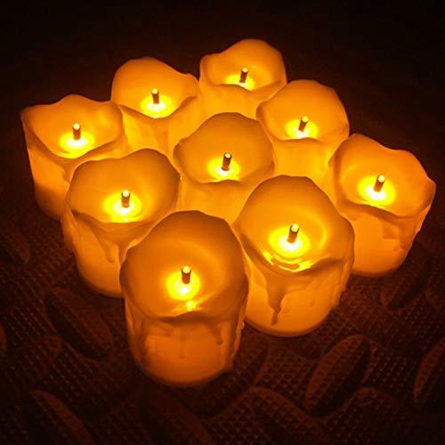 wangZJ Elektronische Kerze/Heiratsantrag Geburtstag Kerze Licht/Elektronische Tränen Kerze Nachtlicht / 24 Stück/Huang Guang