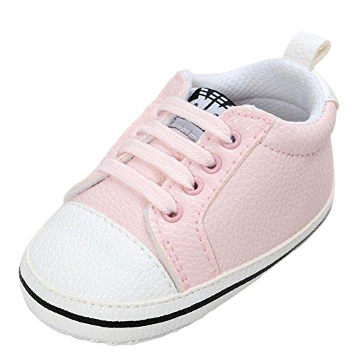46239ed301f73 0-18mois Chaussures premiers pas Chaussures Bébé Unisexe Garçons Filles  Longra Antidérapant Soles Douces Chaussures