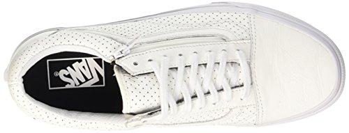 Vans Old Skool Zip - Scarpe da Ginnastica Basse Unisex – Adulto Bianco (perf Leather/true White)