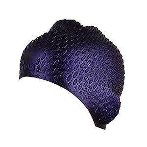 TININNA wrap ear impermeabile Stretch silicone Nuoto Cappello Hat per donne e uomini Viola