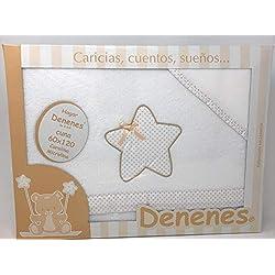 Danielstore-Sabanas invierno Coralina CUNA 60X120 - Estrella- (bajera+encimera+funda almohada).Color beige (136)