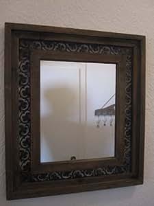 wow wandspiegel spiegel holz antik mediterran landhaus mit. Black Bedroom Furniture Sets. Home Design Ideas