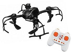 Xtreme t00168-Mini Cuadricóptero con Radio Control 2,4GHz de 4Canales, tamaño 8,5x 9,5x 2cm, función Principiante/Intermedio y Avanzado, lamparillas a LED